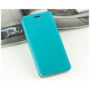 Moof PU kožené pouzdro na mobil Lenovo S90 - modré - 3