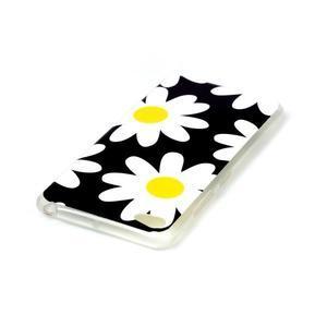 Glossy gelový obal na mobil Lenovo S90 - kytičky - 3