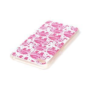 Glossy gelový obal na mobil Lenovo S90 - červení sloni - 3