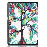 Polohovatelné pouzdro na tablet Lenovo Tab 2 A10-70 - malovaný strom - 3/7
