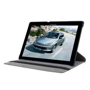 Pouzdro s otočnou funkcí na tablet Lenovo Tab 2 A10-70 - tmavěmodré - 3