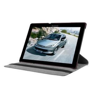 Pouzdro s otočnou funkcí na tablet Lenovo Tab 2 A10-70 - tmavěhnědé - 3
