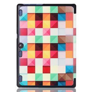Polohovatelné pouzdro na tablet Lenovo Tab 2 A10-70 - barevné kostky - 3