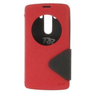 Diary pouzdro s okýnkem na mobil LG G3 - červené - 3