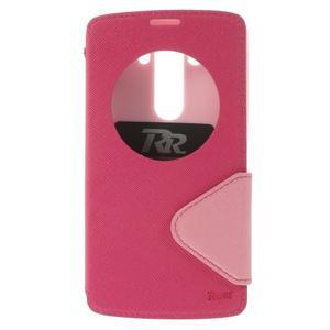 Diary pouzdro s okýnkem na mobil LG G3 - rose - 3