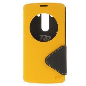 Diary pouzdro s okýnkem na mobil LG G3 - žluté - 3