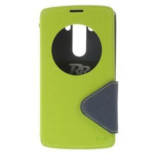 Diary pouzdro s okýnkem na mobil LG G3 - zelené - 3