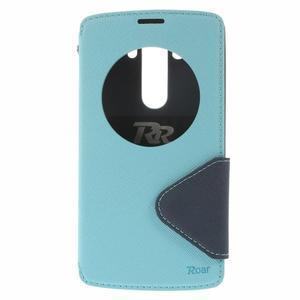 Diary pouzdro s okýnkem na mobil LG G3 - světlemodré - 3