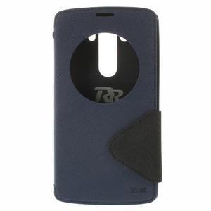 Diary pouzdro s okýnkem na mobil LG G3 - tmavěmodré - 3