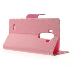 Goos peněženkové pouzdro na LG G3 - růžové - 3