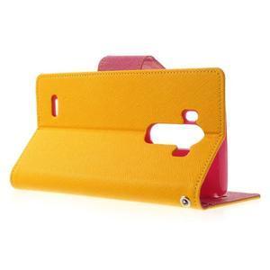 Goos peněženkové pouzdro na LG G3 - žluté - 3