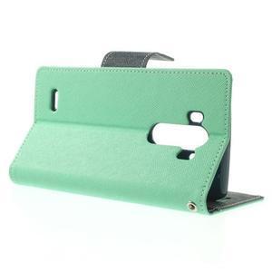Goos peněženkové pouzdro na LG G3 - cyan - 3