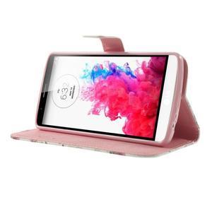 Ultra motive peněženkové pouzdro na LG G3 - květiny - 3