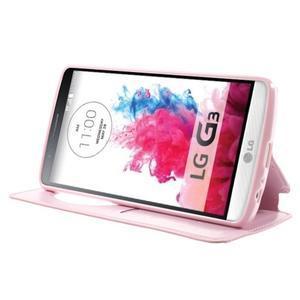 Roar peněženkové pouzdro s okýnkem na LG G3 - růžové - 3
