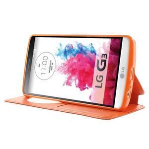 Roar peněženkové pouzdro s okýnkem na LG G3 - oranžové - 3
