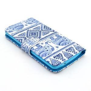 Obrázkové pouzdro na mobil LG G3 - modří sloni - 3