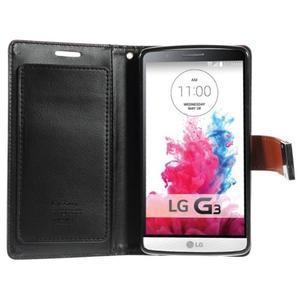 Luxusní PU kožené pouzdro na mobil LG G3 - hnědé - 3