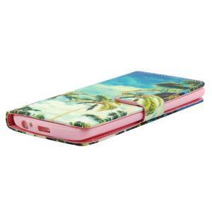 Obrázkové koženkové pouzdro na mobil LG G3 - palmy - 3