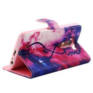 Obrázkové koženkové pouzdro na mobil LG G3 - nekonečná láska - 3