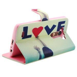 Obrázkové koženkové pouzdro na mobil LG G3 - love - 3