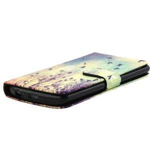 Obrázkové koženkové pouzdro na mobil LG G3 - létající ptáčci - 3