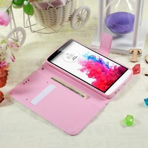 Motive koženkové pouzdro na LG G3 - fialový květ - 3