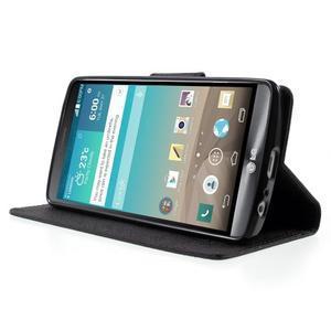 Cross PU kožené pouzdro na LG G3 - černé - 3