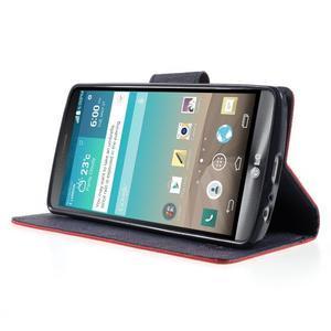 Cross PU kožené pouzdro na LG G3 - červené - 3