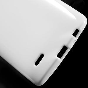 Lesklý gelový obal na LG G3 - bílý - 3