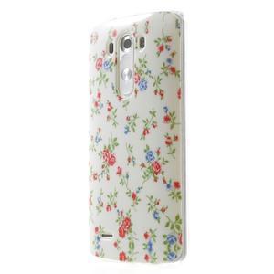 Gelový kryt na mobil LG G3 - kytičky - 3