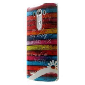 Gelový kryt na mobil LG G3 - barvy dřeva - 3