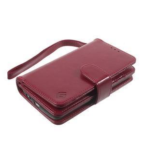 Patrové peněženkové pouzdro na mobil LG G3 - vínově červené - 3