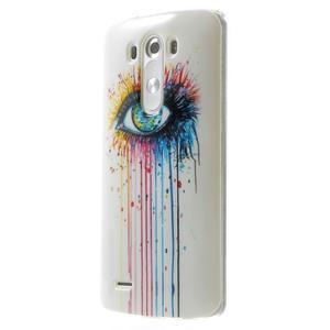 Gelový kryt na mobil LG G3 - barevné oko - 3
