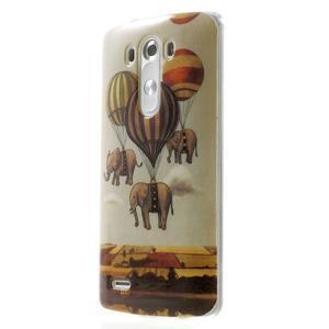 Gelový kryt na mobil LG G3 - sloni - 3