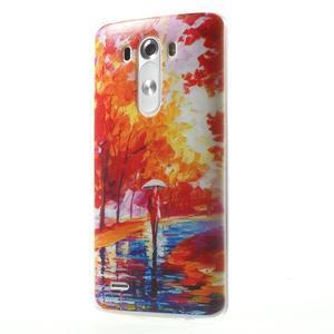 Silks gelový obal na mobil LG G3 - podzimní malba - 3