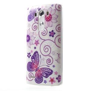 Silks gelový obal na mobil LG G3 - motýlci - 3