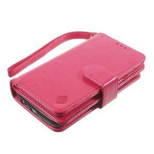 Patrové peněženkové pouzdro na mobil LG G3 - rose - 3