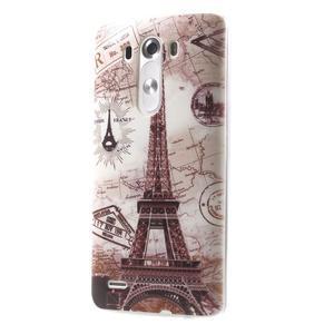 Silks gelový obal na mobil LG G3 - Eliffelova věž - 3