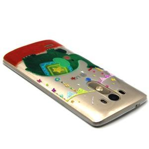 Průhledný gelový obal na LG G3 - slon - 3