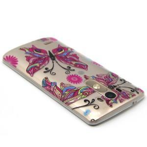 Průhledný gelový obal na LG G3 - barevní motýlci - 3