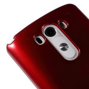 Odolný gelový obal na mobil LG G3 - vínově červený - 3