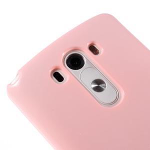 Odolný gelový obal na mobil LG G3 - růžový - 3