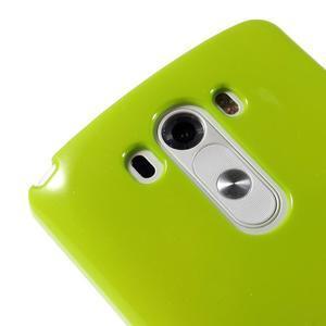 Odolný gelový obal na mobil LG G3 - zelený - 3