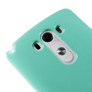 Odolný gelový obal na mobil LG G3 - cyan - 3