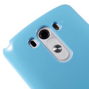 Odolný gelový obal na mobil LG G3 - světlemodrý - 3