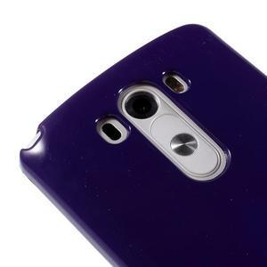Odolný gelový obal na mobil LG G3 - fialový - 3