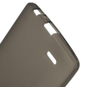 Matný gelový obal na LG G3 - šedý - 3
