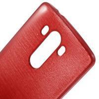 Brush gelový obal na LG G3 - červený - 3/4