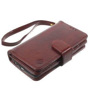 Patrové peněženkové pouzdro na mobil LG G3 - hnědé - 3