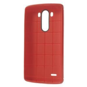 Silks gelový obal na LG G3 - červený - 3